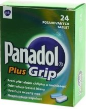 Tablety proti chřipce a nachlazení Plus Grip Panadol