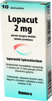 Tablety proti průjmu Lopacut