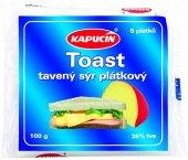 Sýr tavený plátky Toast Kapucín