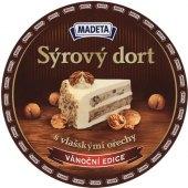 Sýrový dort tavený s vlašskými ořechy Madeta