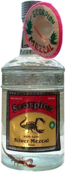 Tequila Silver Mezcal Joveń Scorpion