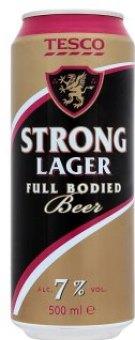 Pivo speciální světlé Strong Lager Tesco