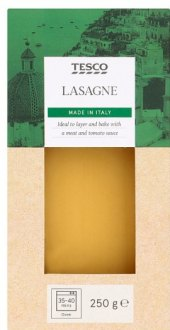 Těstoviny lasagne Tesco