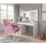 Toaletní stolek a zrcadlo Elke