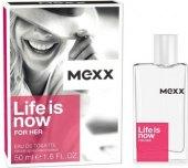 Toaletní voda dámská Life is now Mexx