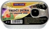Tresčí játra ve vlastním oleji Five Star