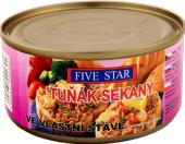 Tuňák sekaný ve vlastní šťávě Five star