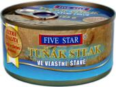 Tuňák steak ve vlastní šťávě Five Star