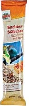 Pamlsky pro papoušky tyčinky Globus