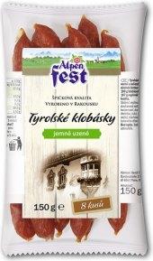 Tyrolské klobásky jemně uzené Alpen Fest