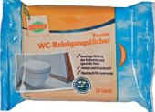 Čisticí vlhčené ubrousky na WC Globus