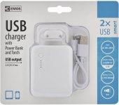 USB adaptér s power bankou Emos