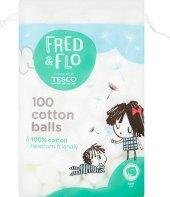 Vatové kuličky Fred & Flo Tesco