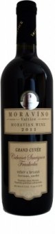 Víno Cabernet Sauvignon + Frankovka Cuvée Moravíno Valtice - výběr z hroznů