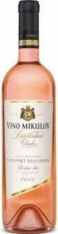 Víno Cabernet Sauvignon Rosé Sommelier Club Víno Mikulov  - pozdní sběr