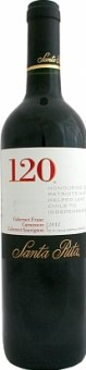 Víno červené Carmenére + Cabernet Franc + Cabernet Sauvignon Cuvée Santa Rita