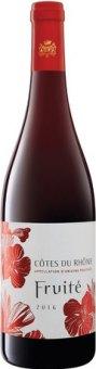 Víno červené Côtes du Rhône Fruité