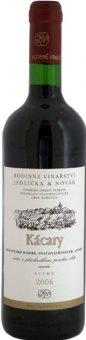 Víno červené Cuvée Kácary Vinařství Jedlička&Novák - pozdní sběr