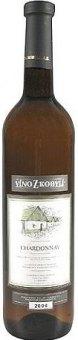 Víno Chardonnay Víno z Kobylí - pozdní sběr