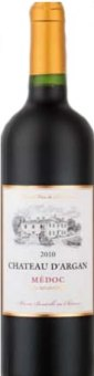Víno Médoc Cru Bourgeois 2010 Chateau D'Argan