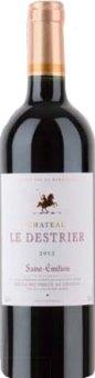 Víno červené Saint - Émilion 2012 Chateau Le Destrier