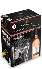 Víno Frankovka - Cabernet Moravia Rosé Cuvée  Víno Mikulov - bag in box
