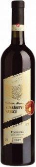 Víno Frankovka Collecction Vinařství Zaječí
