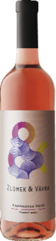 Víno Frankovka Rosé Zlomek&Vávra - pozdní sběr