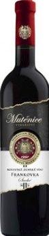 Víno Frankovka Vinařství Mutěnice - zemské