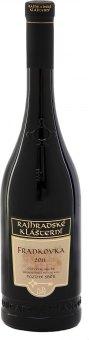 Víno Frankovka Vinařství Rajhradské Klášterní - pozdní sběr