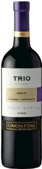 Víno Merlot Concha y Toro Trio