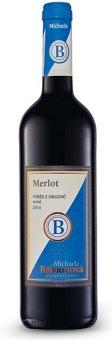 Víno Merlot Michaela Balounová - výběr z hroznů
