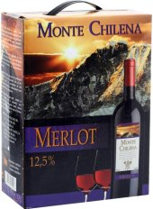 Víno Merlot Monte Chilena - bag in box
