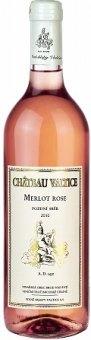 Víno Merlot Rosé Chateau Valtice - pozdní sběr