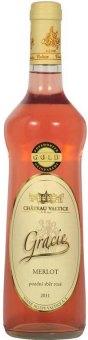 Víno Merlot Rosé Gracie Chateau Valtice - pozdní sběr