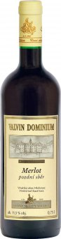Víno Merlot Valvin Dominium Collection Chateau Valtice - pozdní sběr