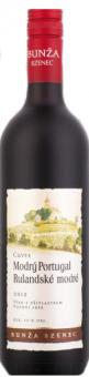 Víno Modrý Portugal a Rulanské modré Cuvée Vinařství Bzenec Bunža - pozdní sběr