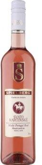 Víno Modrý Portugal Rosé Spielberg - svatomartinské