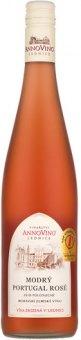 Víno Modrý Portugal Rosé Vinařství Annovino Lednice - zemské