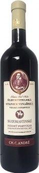 Víno Modrý Portugal ŠSV Velké Pavlovice - svatomartinské