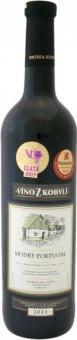 Víno Modrý Portugal Víno z Kobylí - pozdní sběr