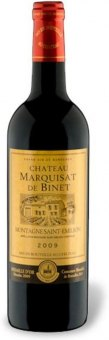 Víno červené Montagne Saint-Émilion 2009 Chateau Marquisat de Binet