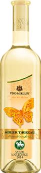 Víno Müller Thurgau Motýl Víno Mikulov - svatomartinské