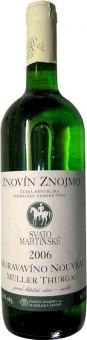 Víno Müller Thurgau Znovín Znojmo - svatomartínské
