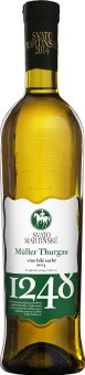Víno Müller Thurgau Templářské sklepy Čejkovice -svatomartinské
