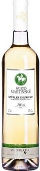 Víno Müller Thurgau Vinařství Blatel - svatomartinské