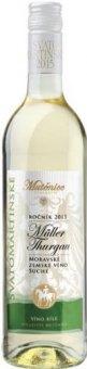 Víno Müller Thurgau Vinařství Mutěnice - svatomartinské