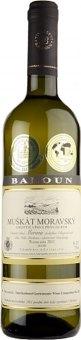 Víno Muškát Moravský Vinařství Baloun - pozdní sběr