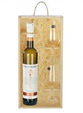 Víno Pálava s přívlastkem výběr z hroznů Víno z Kobylí - dárkové balení
