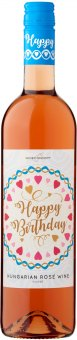 Víno Rosé Cuvée Happy Birthday Wine Concept